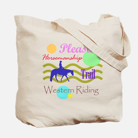 All around western in brights Tote Bag