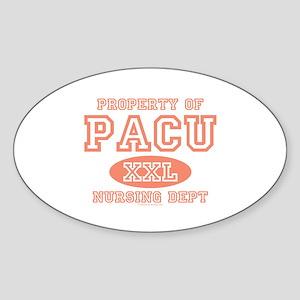 Property Of PACU Nurse Oval Sticker