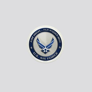 USAF Motto Aim High Mini Button