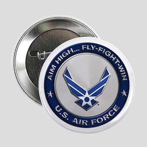 "USAF Motto Aim High 2.25"" Button"