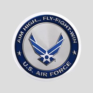 USAF Motto Aim High Button