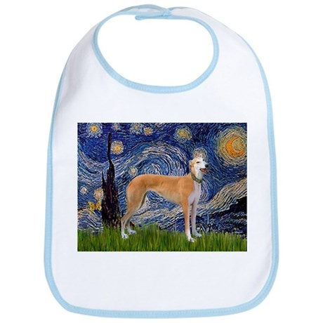 Starry Night & Greyhound Bib