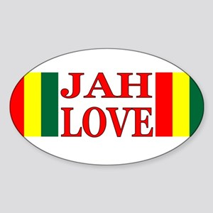 JAH LOVE Oval Sticker