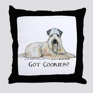 Wheaten Terriers Cookie Dogs Throw Pillow