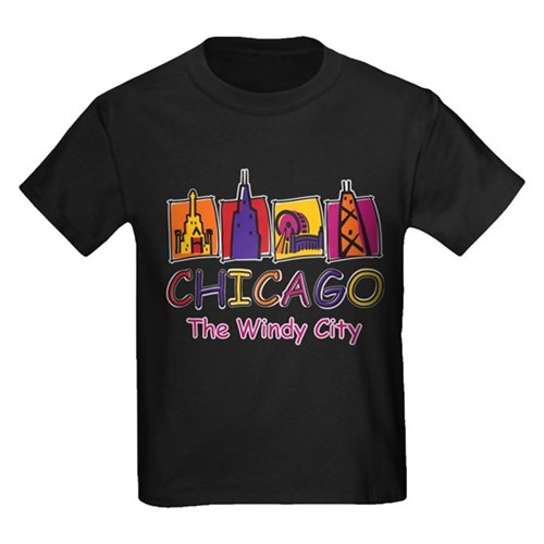 Chicago Windy City Kids Design T-Shirt