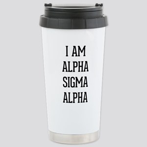 I Am Alpha Sigma 16 oz Stainless Steel Travel Mug