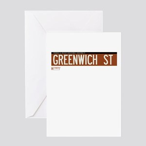 Greenwich Street in NY Greeting Card
