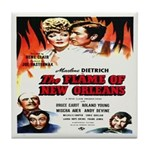 New Orleans Flame Movie Poste Tile Coaster