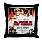 New Orleans Flame Movie Poste Throw Pillow