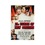 New Orleans Flame Movie Poste Rectangle Magnet