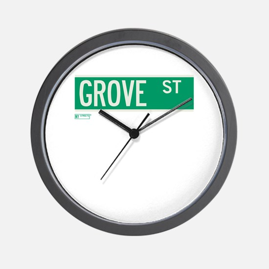 Grove Street in NY Wall Clock
