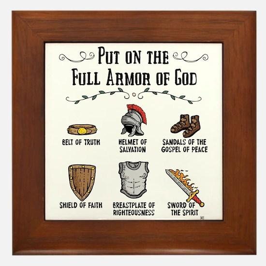 Armor Of God Framed Tile