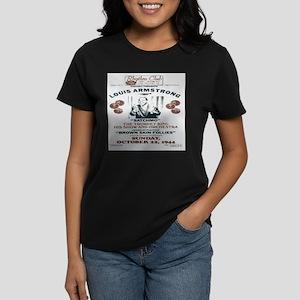 Louis Armstrong Poster Women's Dark T-Shirt
