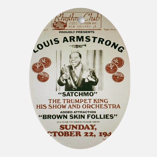 Louis Armstrong Poster Oval Ornament