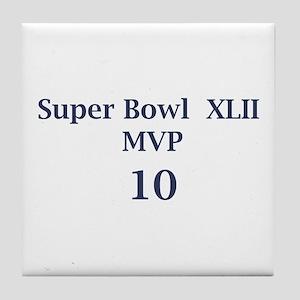 """Eli Manning """"Super Bowl MVP"""" Tile Coaster"""