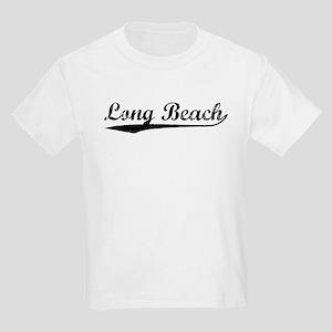Vintage Long Beach (Black) Kids Light T-Shirt