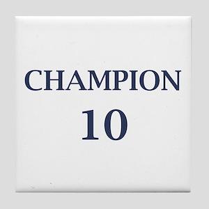Eli Manning Champion (#10) Tile Coaster