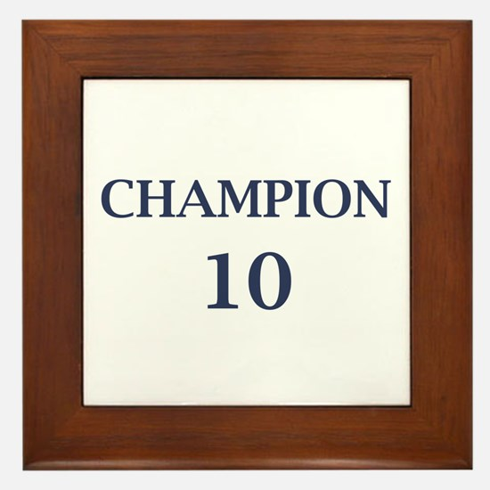 Eli Manning Champion (#10) Framed Tile