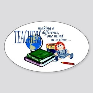Teachers Making a Difference Oval Sticker