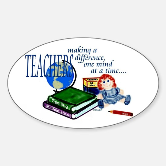 Teachers Making a Difference Oval Decal