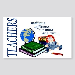 Teachers Making a Difference Rectangle Sticker
