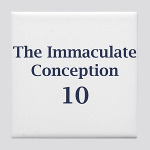 Eli Manning The Immaculate Conception Tile Coaster