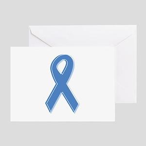 Lt Blue Awareness Ribbon Greeting Card