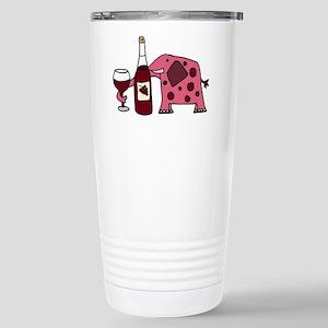Pink Elephant Drinking Wine Mugs