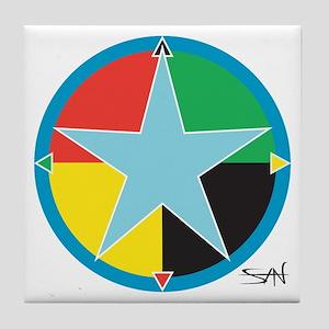 """Sean Bowen's """"Star Medicine"""" Tile Coaster"""