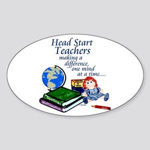Head Start Oval Sticker