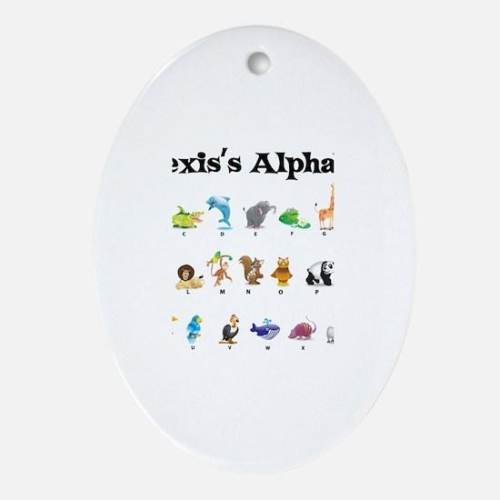 Alexis's Animal Alphabet Oval Ornament