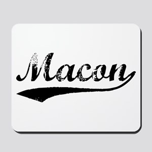 Vintage Macon (Black) Mousepad