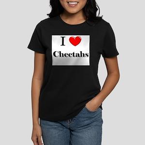 I Love Cheetahs Women's Dark T-Shirt