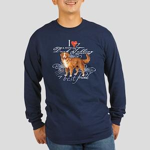 Toller Long Sleeve Dark T-Shirt