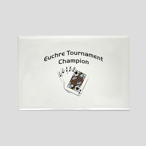 Euchre Tournament Rectangle Magnet