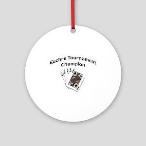 Euchre Tournament Ornament (Round)
