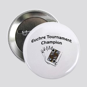 "Euchre Tournament 2.25"" Button"
