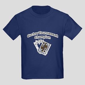 Euchre Tournament Kids Dark T-Shirt