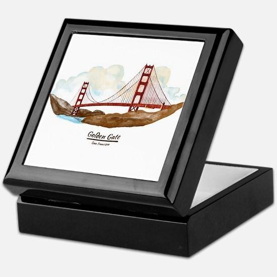 San Francisco Golden Gate Bridge Keepsake Box