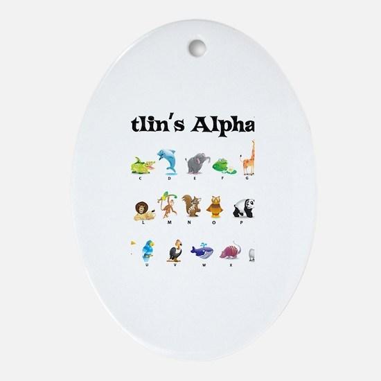 Caitlin's Animal Alphabet Oval Ornament