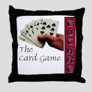 Euchre Card Game Throw Pillow