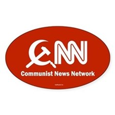 CNN - Commie News Network Oval Sticker