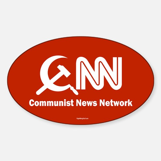 CNN - Commie News Network Oval Decal