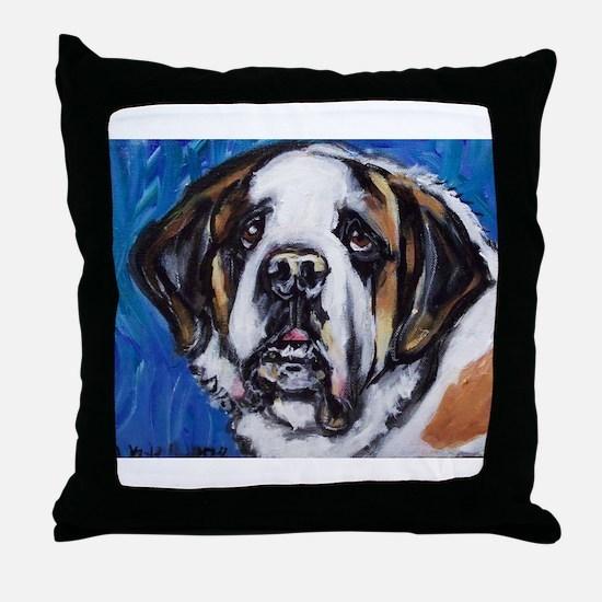 adorable Saint Bernard Throw Pillow