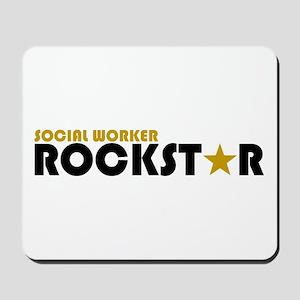 Social Worker Rockstar 2 Mousepad