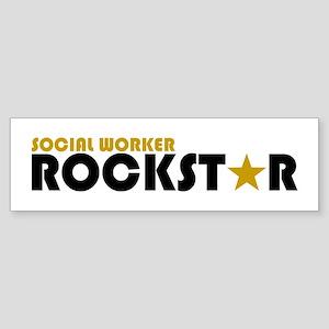 Social Worker Rockstar 2 Bumper Sticker