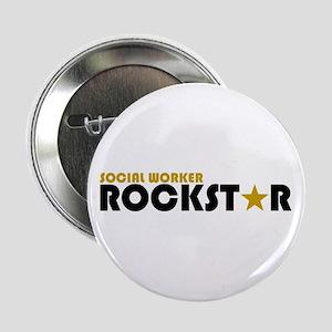 """Social Worker Rockstar 2 2.25"""" Button"""