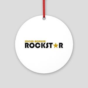 Social Worker Rockstar 2 Ornament (Round)