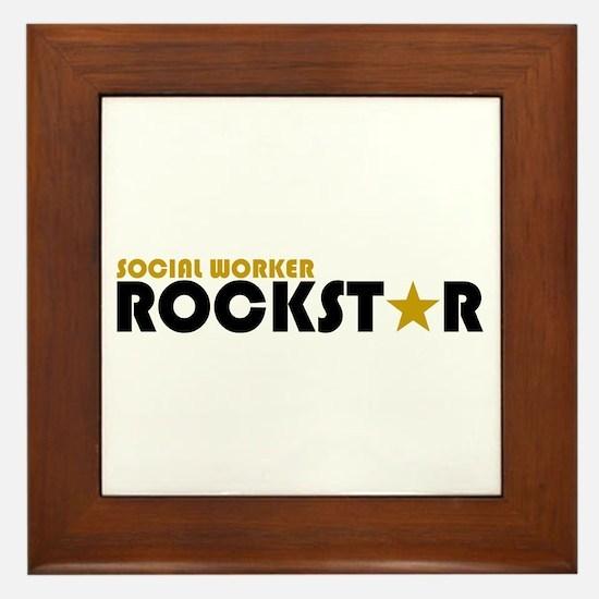Social Worker Rockstar 2 Framed Tile