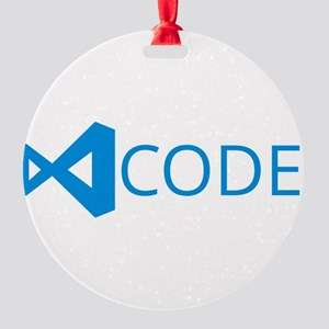 visual studio code Round Ornament